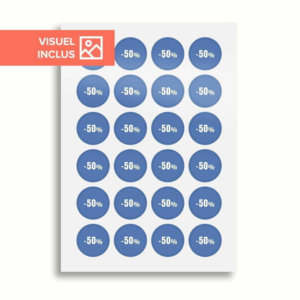 Stickers pré-imprimés en planches